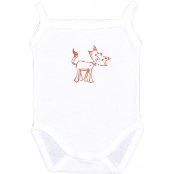 Body maiou bretele alb imprimeu pisicuță | liloo