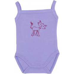 Violet sleeveless bodysuit with kitten print (camisole type)