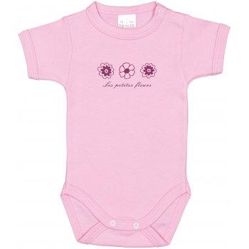 Body mânecă scurtă roz imprimeu floricele | liloo