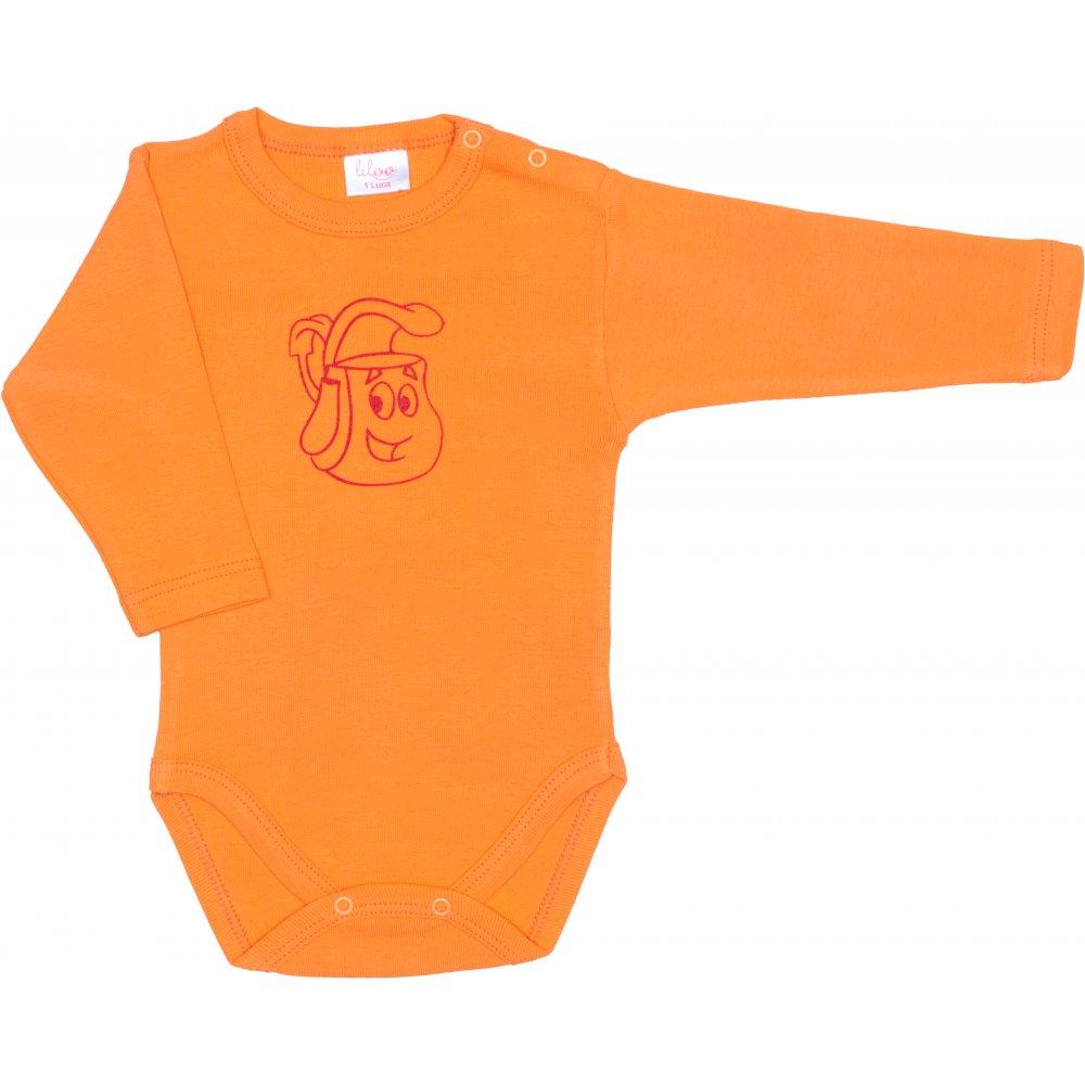 Body mânecă lungă portocaliu imprimeu rucsac | liloo