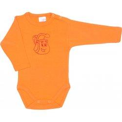 Body mânecă lungă portocaliu imprimeu rucsac