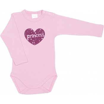 Body mânecă lungă roz imprimeu prinţesă