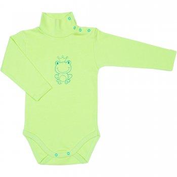 Body maneca lunga tip helanca (maleta) verde lime imprimeu broscuta | liloo