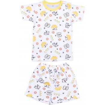 Pijamale vară cu mânecă scurtă și pantaloni scurți imprimeu model animăluțe și fructe