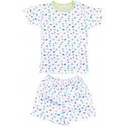 Short-sleeve thin PJs with sea life allover - fish