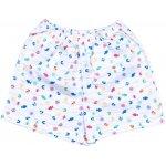 Pijamale vară cu mânecă scurtă și pantaloni scurți imprimeu model marin - peștișori | liloo