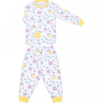 Pijamale primăvară-toamnă imprimeu model animăluțe și fructe