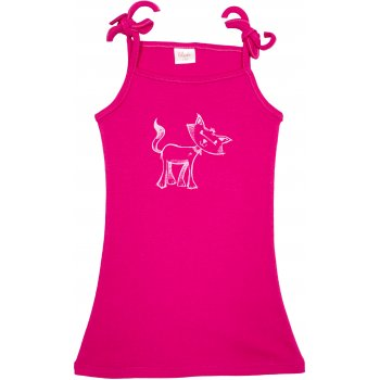 Rochiță de vară pentru fetițe - fucsia imprimeu pisicuță | liloo