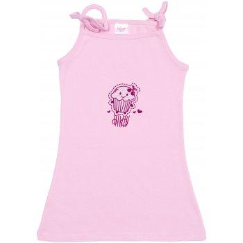 Rochiță de vară pentru fetițe - roz imprimeu prăjiturică | liloo