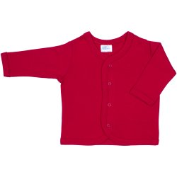 Red long-sleeve center-snap tee