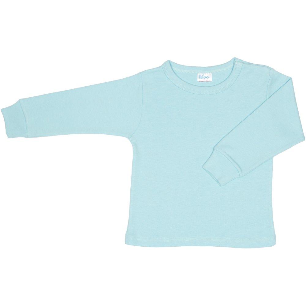 Bluza casa maneca lunga azur deschis | liloo