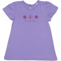 Violet short-sleeve tee for girls - flowers print