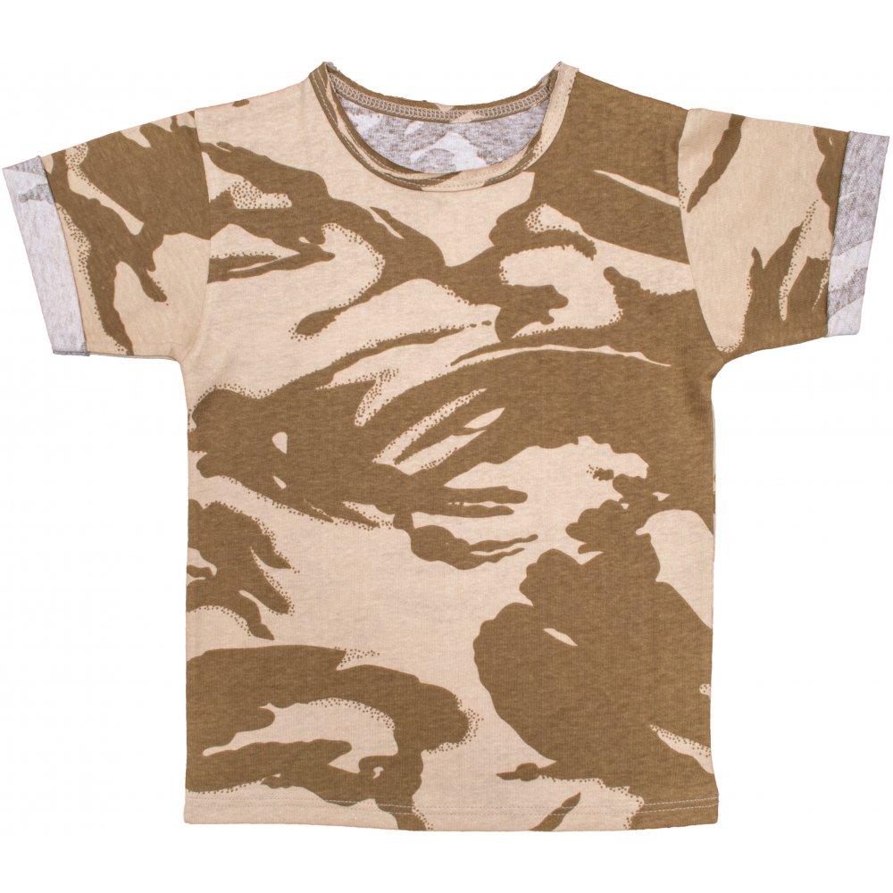 Tricou mânecă scurtă imprimeu texturat camuflaj | liloo