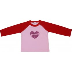 Red & pink long-sleeve tee with print
