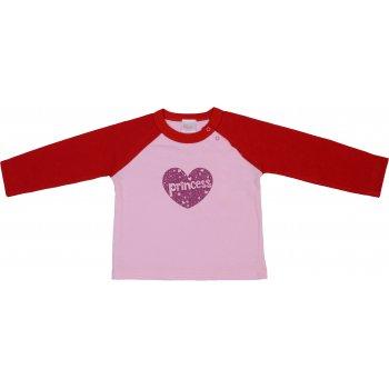 Tricou cu imprimeu mânecă lungă roz & roșu | liloo