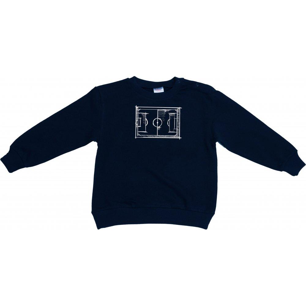 Bluză trening subțire bleumarin imprimeu fotbal | liloo