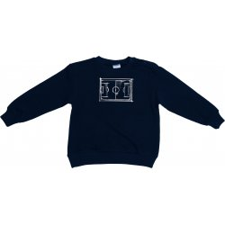 Navy blue thin sweatshirt with football print