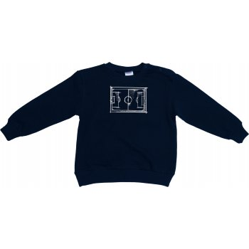 Bluză trening subțire bleumarin imprimeu fotbal
