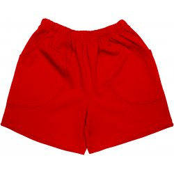 Red play shorts
