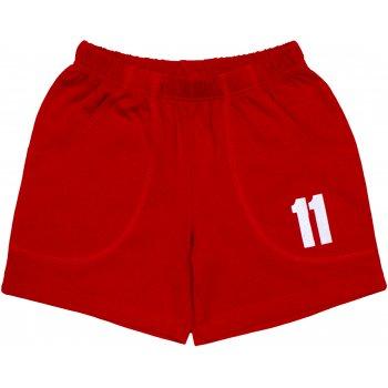 """Pantaloni scurți roșii imprimeu """"11"""""""