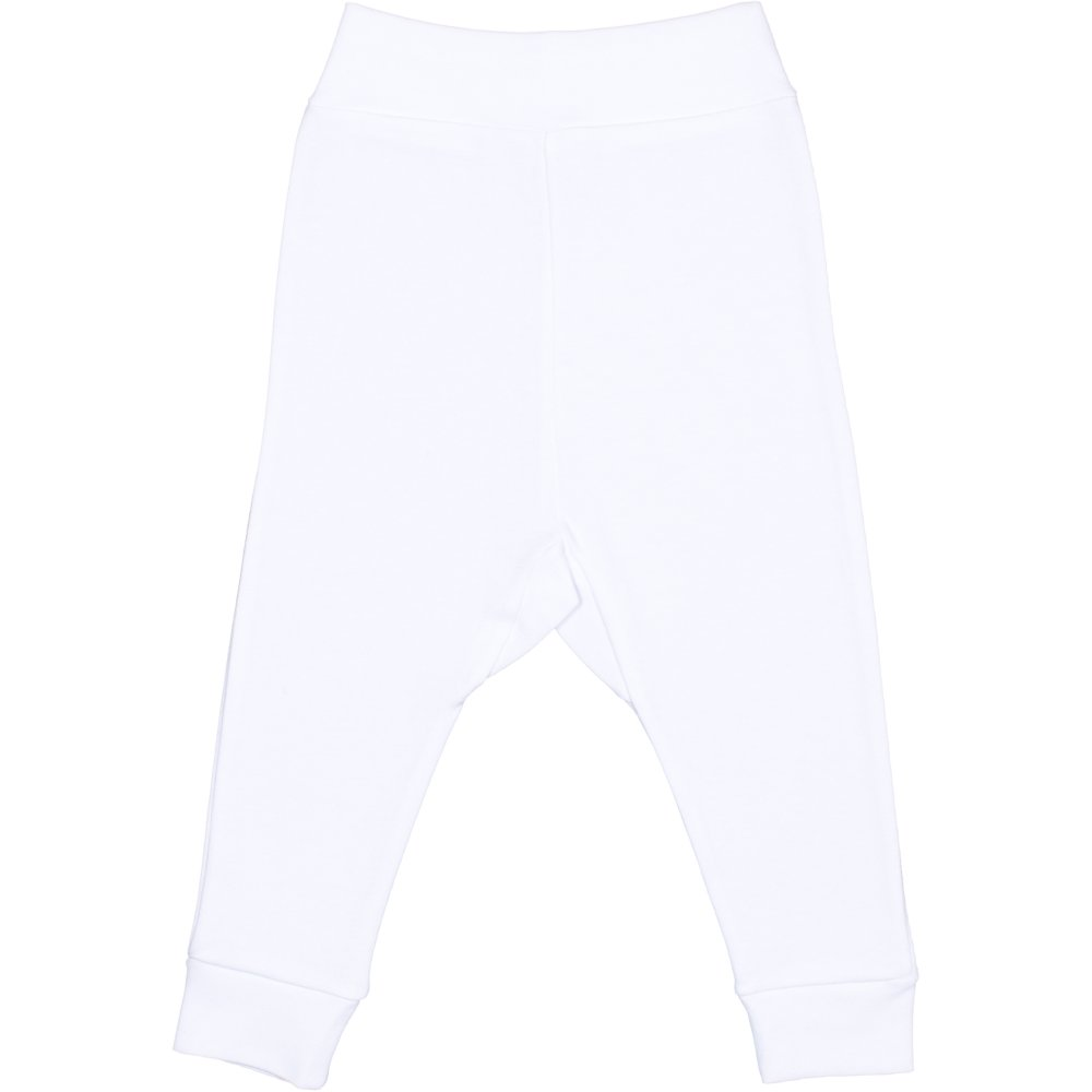 Pantaloni de casa cu manseta (izmene copii) albi | liloo