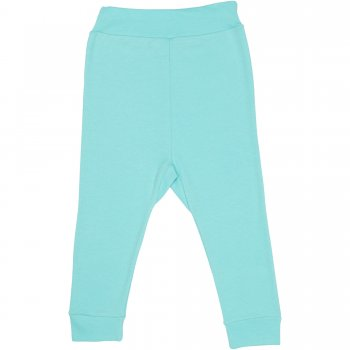 Pantaloni de casa cu manseta (izmene copii) aqua | liloo