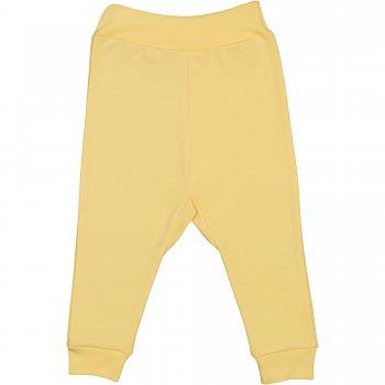 Pantaloni de casa cu manseta (izmene copii) galbeni | liloo