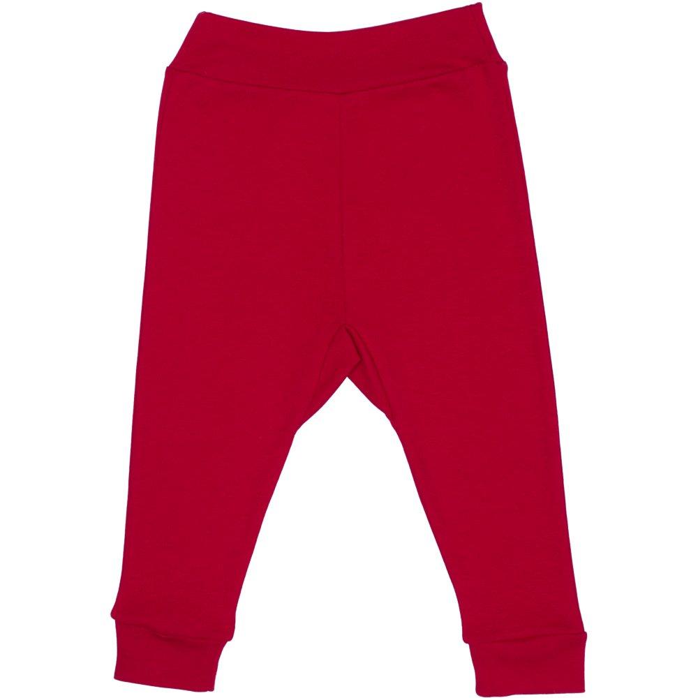 Pantaloni de casa cu manseta (izmene copii) rosii | liloo