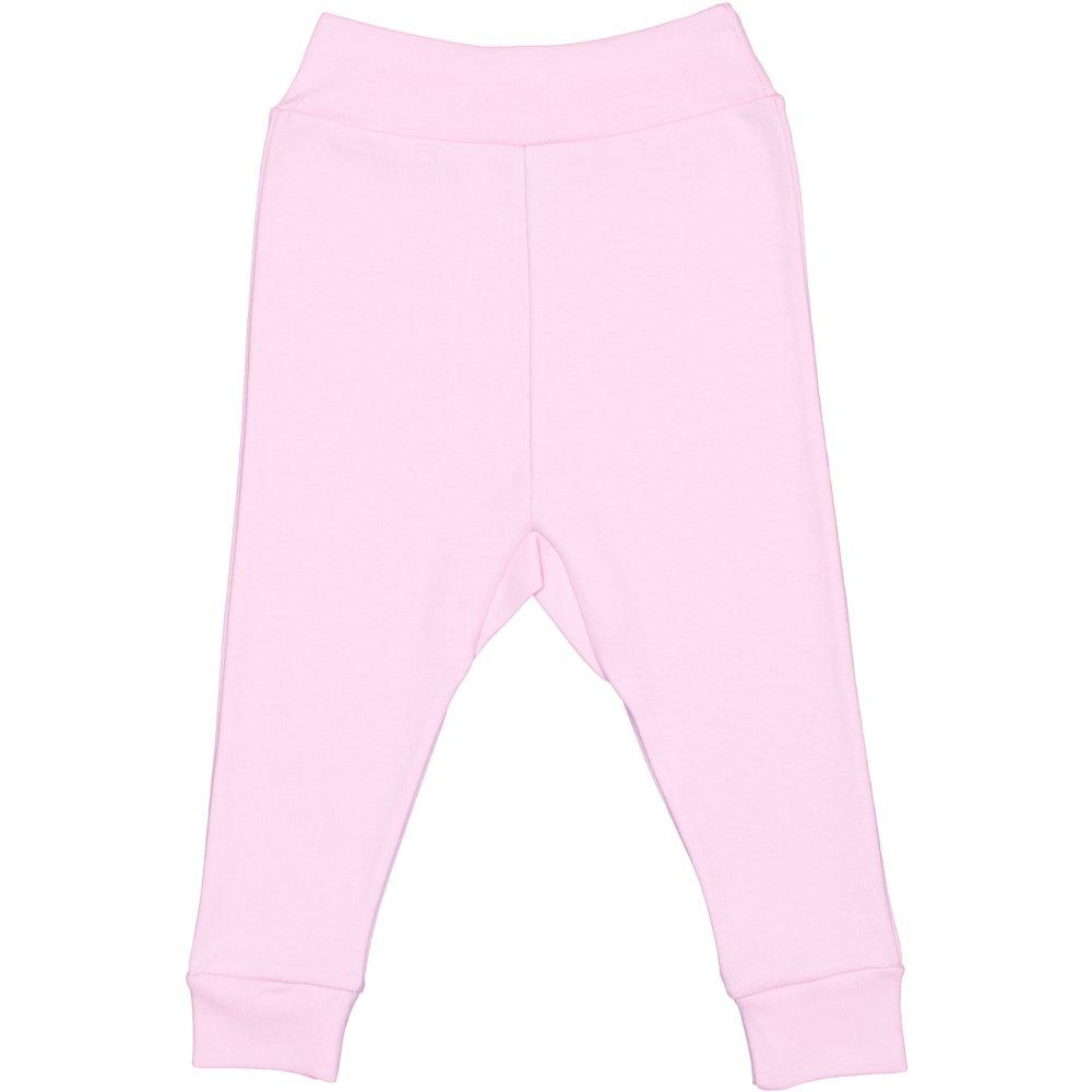 Pantaloni de casa cu manseta (izmene copii) roz | liloo