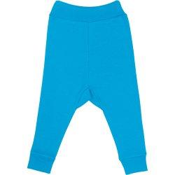 Pantaloni de casă cu manşetă (izmene copii) turcoaz