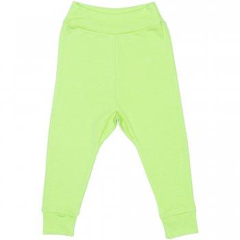 Pantaloni de casa cu manseta (izmene copii) verde lime | liloo