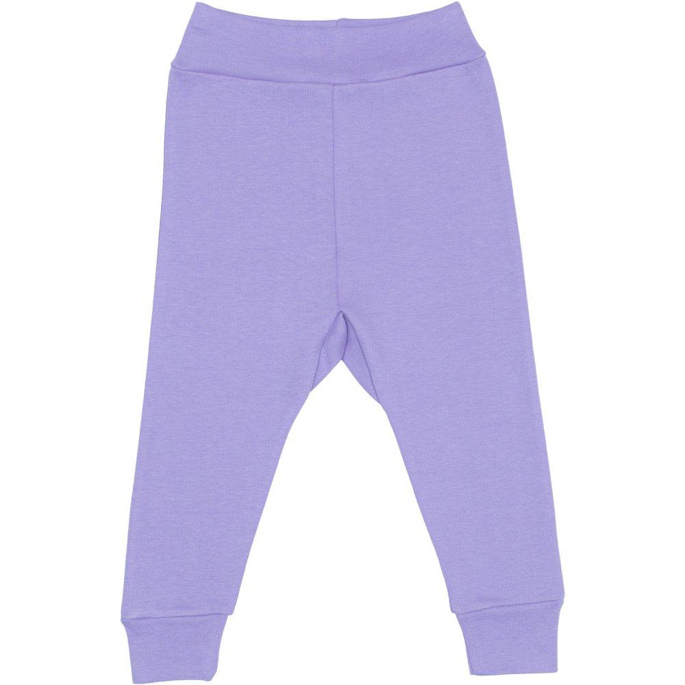 Pantaloni de casa cu manseta (izmene copii) violet | liloo