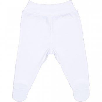Pantaloni cu botoşei bandă albi