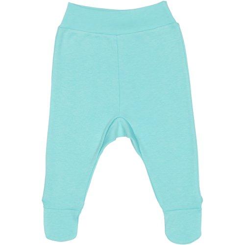 Pantaloni cu botoşei bandă aqua