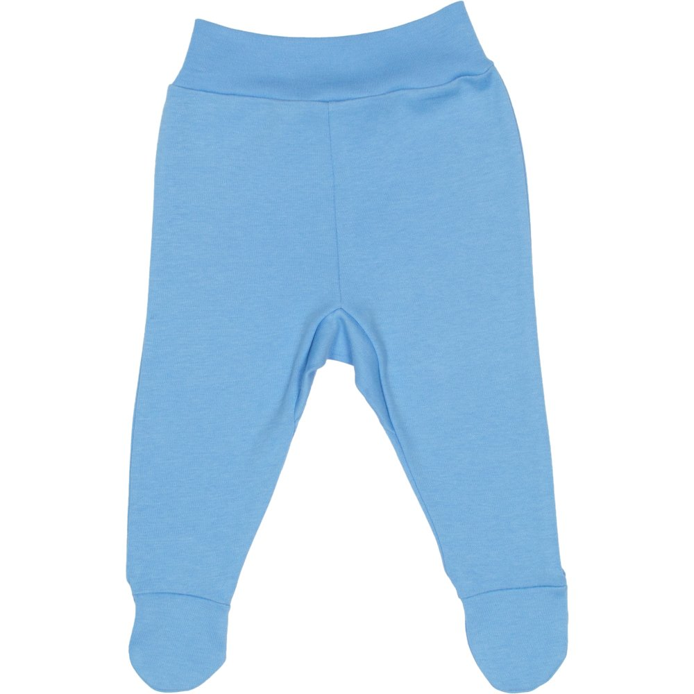 Pantaloni cu botosei banda azur | liloo