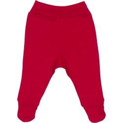Pantaloni cu botoşei bandă roşii