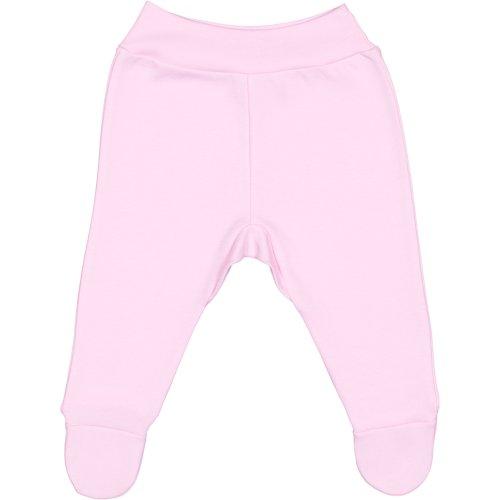 Pantaloni cu botoşei bandă roz