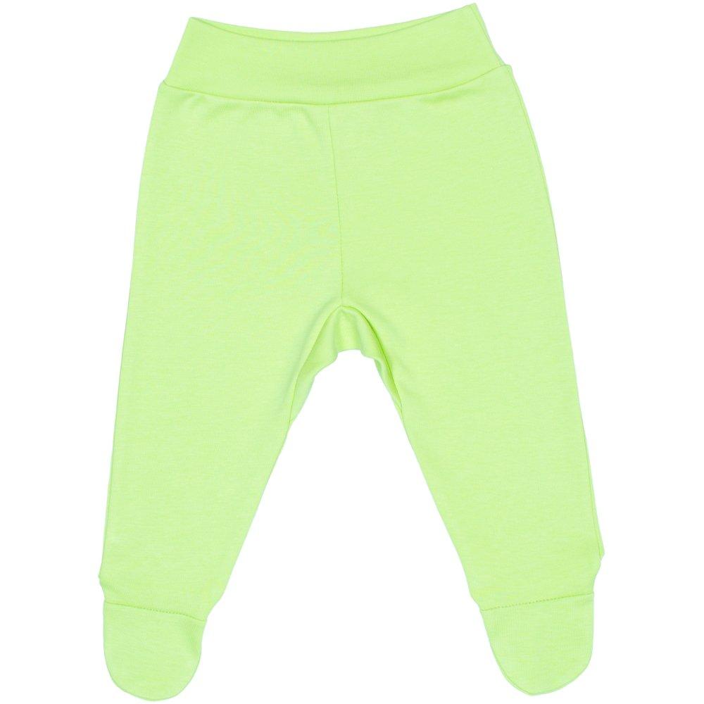 Pantaloni cu botosei banda verde lime | liloo