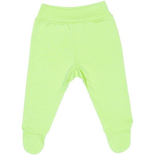 Pantaloni cu botoşei bandă verde lime