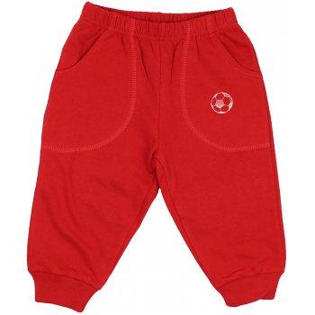 Pantaloni trening subțiri roșii cu buzunar imprimeu minge