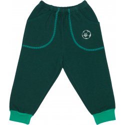 Dark green thick joggers with football print