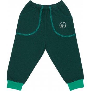 Pantaloni trening groși verde închis cu buzunar imprimeu minge