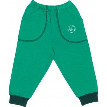 Pantaloni trening groși verzi cu buzunar imprimeu minge