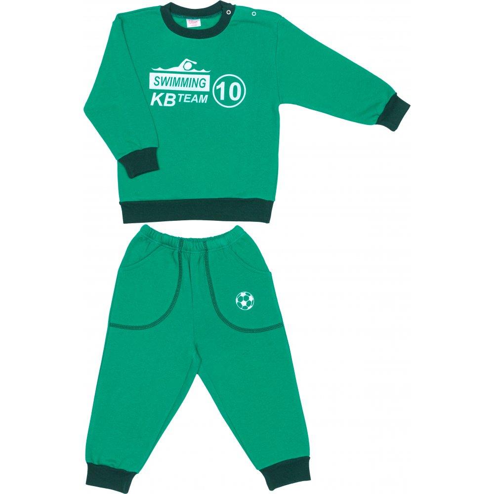 Costum trening gros verde imprimeu swimming | liloo