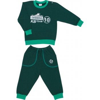 Costum trening gros verde închis imprimeu swimming | liloo
