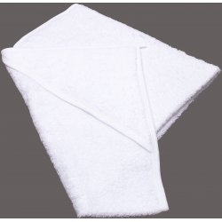 Large white hooded towel