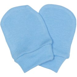 Azure newborn gloves