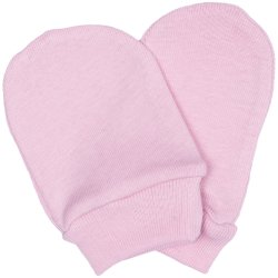 Pink newborn gloves