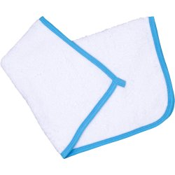 White hand towel - azure trim