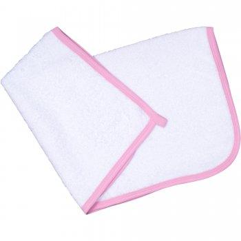 Prosop mic pentru mâini - alb bordaj roz | liloo